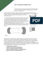 Autonomous Parking Systems