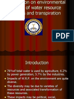 Presentation on Environmental Impacts of Water Resource Projects and Transpiration