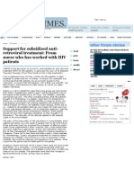 Support for Subsidised Anti-retroviral Treatment