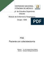 PAE Colecistectomia