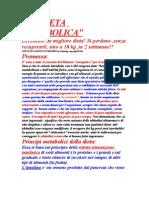 DIETA METABOLICA italiana