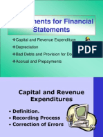 Adjustments for Financial Statements