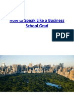 How to Speak Like a Business School Grad