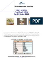 Elite Catering April-October 2012