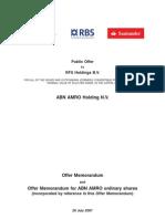 RBS ABN AMRO Offer Memorandum Preference Shares