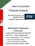 McDonalds 2003 Power Point Presentation