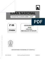 Soal Kunci UN Geografi 2009