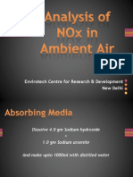 Analysis of NOx in Ambient Air