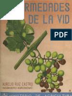 """""""Enfermedades de La Vid"""" de Aurelio Ruiz Castro 1944"""