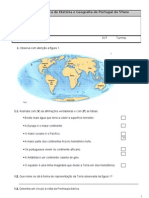Ficha de avaliação diagnóstica de História e Geografia de Portugal2011