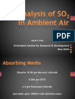 Analysis of SO2 in Ambient Air