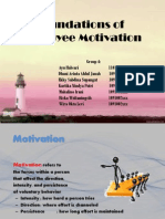 Foundations of Employees Motivation