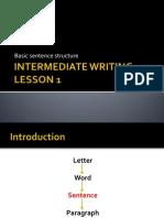 Lesson 1 Sentence Types