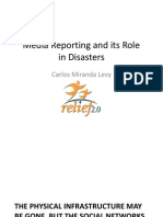 Media Reporting and its Role in Disasters