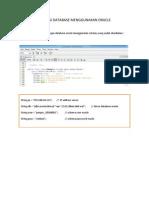 Koneksi Database Menggunakan Oracle