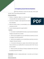 Behavioural Interview Questionnaire