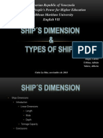 Ship´s Dimension & Types of Ships