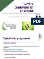 UNITÉ 5 Environnement et Energies