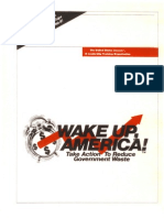 Wake Up America Reduce Govt Waste Part A
