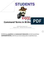Dp Biology Command Terms Ppp