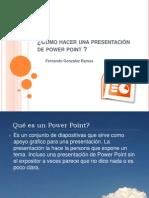Cómo hacer una presentación de power point
