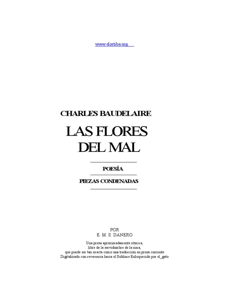 Baudelaire Charles Las Flores Del Mal