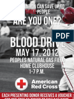 Blood Drive Flyer - 1 Saves 3