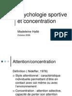 Psychologie Sportive Concentration