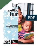 Black Author Showcase Holiday Book Fair Program
