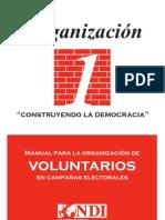Manual para la Organización de Voluntarios en Campañas Electorales