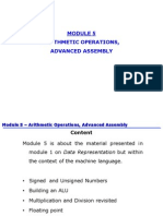 Module 5 - Arithmetic Operations Advanced Assembly4