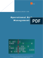 Guidelines on Operational Risk Management..