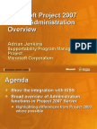 Microsoft Project 2007 Server Administration Overview