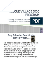 Dog Program Training Principles and Methodology