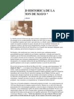 Fidelidad Historica de La Revolucion de Mayo (a.g. Mellid)