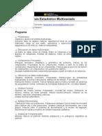 2011 analisis multivariado  Clemente
