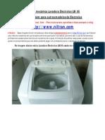 Curso Reforma mecânica Lavadora Electrolux LM 06