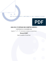Analyse Et Critique Des Comptes Annuels