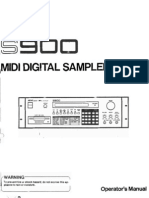 Akai S900 Manual