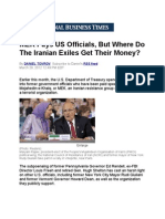 MEK Pays US Officials, But Where Do the Iranian Exiles Get Their Money?