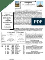 St. Joseph's April 1, 2012 Bulletin