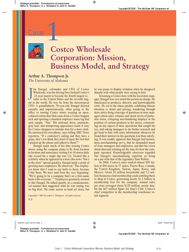 what is costcos business model