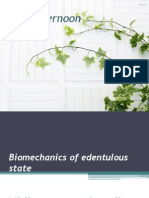 Bio Mechanics of Edentulous State.