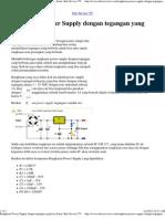 Rangkaian Power Supply Dengan Tegangan Yang Bisa Diatur _ Info Service TV