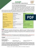 Justeq07 Product Bulletin