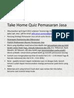 Take Home Quiz Pemasaran Jasa