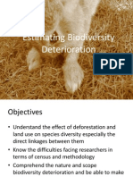 Report Group 2 - Estimating Biodiversity Deterioration
