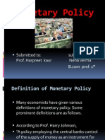 Monetary Policy - Its Meaning, Definitions Objectives