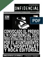 L'H Confidencial, extra. Convocado el Premio L'H Confidencial 2007, premio internacional de novela negra