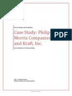 M&A Case Study - Philip Morris Companies and Kraft, Inc.